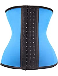Women's Latex Underbust Corset Waist Training Cincher 9 Steel Boned