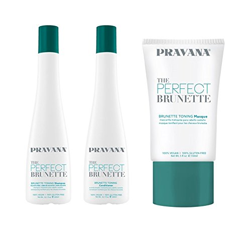 Pravana The Perfect Brunette Toning Shampoo, Conditioner & Masque