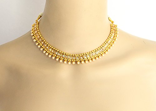 Wedding Indian Crystal Jewelry Necklace Set/Bollywood Necklace/Bridal Gold Necklace