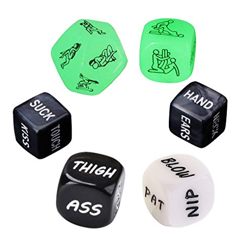 Funny and Romantic Role Playing Dice Game Set of 6,Novelty Gift for Honeymoon bacherette Party,Him and Her, Bridal Shower, Groom Roast,Newlyweds, Wedding, Anniversary, Marriage New 2019