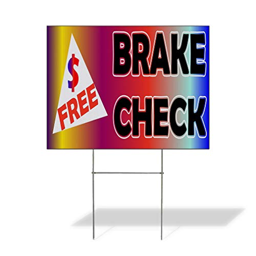 - Plastic Weatherproof Yard Sign Free Brake Check Rainbow Black Dollar Sign Auto Repairs Black Car for Sale Sign Multiple Quantities Available 18inx12in One Side Print One Sign