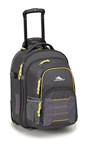 High Sierra Ultimate Access 2.0 Carry On Wheeled Backpack, Mercury/Charcoal/Yell-O