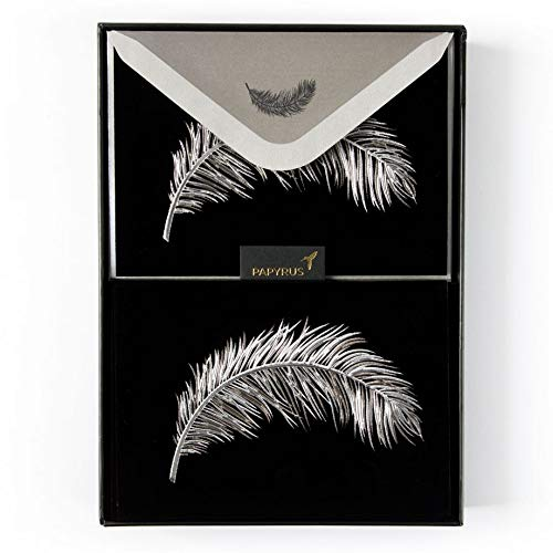 PAPYRUS Velvet Couture Feather Boxed Blank Notes by Zang TOI (Set of 10)
