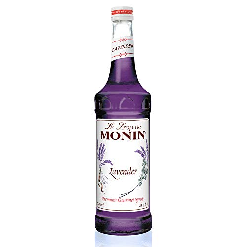 Monin - Lavender Syrup, Aromatic and Floral, Natural Flavors, Great for Cocktails, Lemonades and Sodas, Vegan, Non-GMO, Gluten-Free (750 Milliliters)