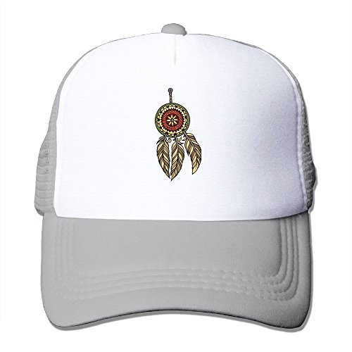 (Trucker Mesh Hat Baseball Cap Native American Feather Adjustable Snapback Hats)