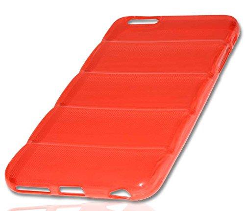 Silikon Case Handy Tasche Hülle für Apple iPhone 6 Plus / Schutzhülle Handytasche barell rot