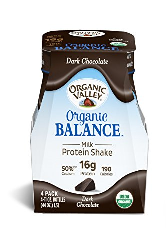 Organic Valley, Organic Balance, Organic Milk Protein Shake, Dark Chocolate, 11 oz, 12 Pack