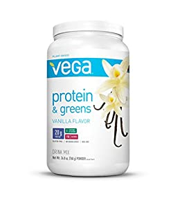 Vega Protein & Greens Plant Based Protein Powder, Vanilla, 1.68 lb (25 Servings)