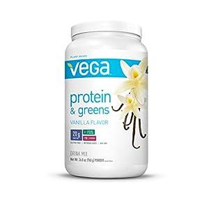 Vega Protein & Greens, Vanilla, 1.16 lb, 25 Servings