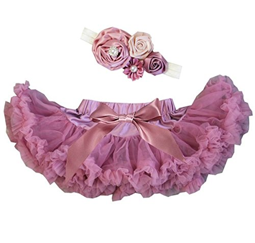 Kirei Sui Baby Dusty Pink Pettiskirt Headband Set ()