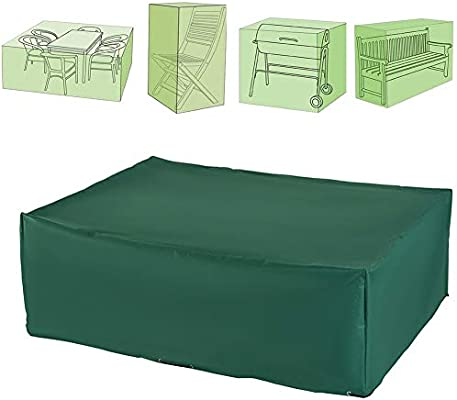 DTLEO Fundas Muebles Jardín, Funda para Mesa Muebles de Jardín,Tela Oxford 210D Resistente Rectangular Cubierta Impermeable Cubierta de Exterior,17 tamaños Verde,115×115×70cm: Amazon.es: Hogar
