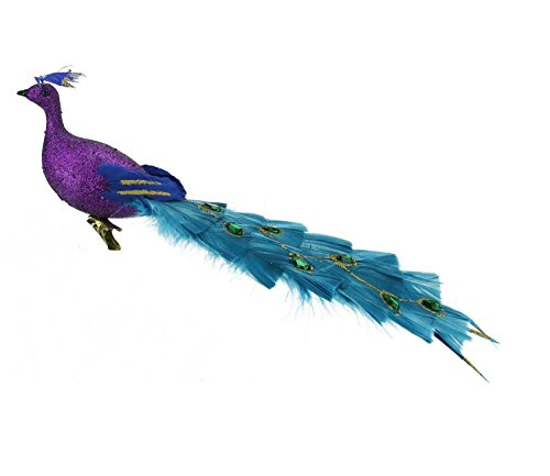 Northlight Regal Peacock Glittered Purple Green and Blue ...