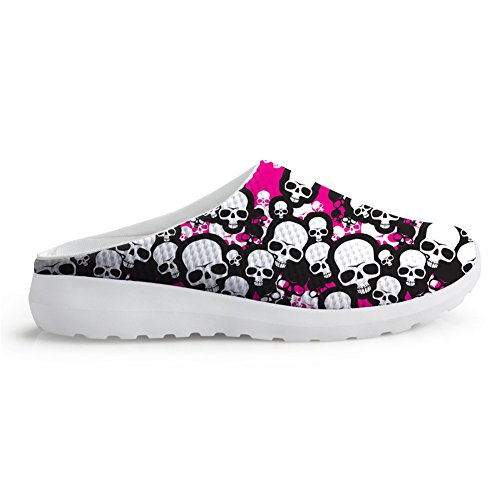 Bigcardesigns Cute Skull Style Women Breathable Printing Summer Beach Shoes 38 1TE2xpkZ