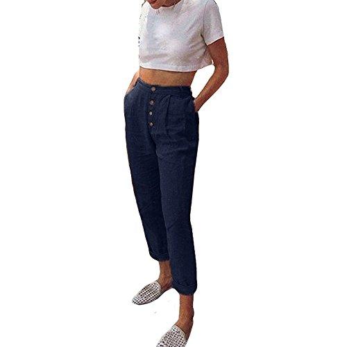 NINGSANJIN Femme Pantalon Taille Haute Casual Jambire Pantalon Femme Taille Haute Chic Slim Crayon Bowknot Jeggings Pantalon Femme Noir Bleu