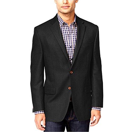 Lauren Ralph Lauren Men's Solid Microfiber Classic-Fit Sport Coat, Black Grey (42L) -