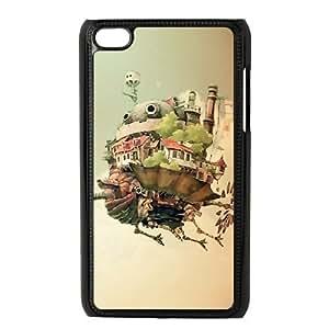 iPod 4 Case Black Howl's Moving Castle exquisite Anime image AIO6276700