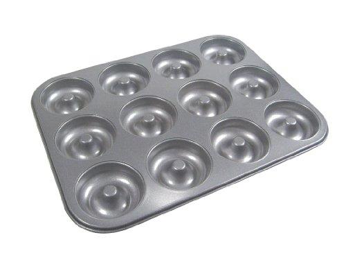 La Patisserie Durable Non Stick Aluminum 12 Cup Donut Cup Baking Pan