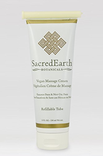 Vegan Massage Cream, Unscented, Water Dispersible, Nut Oil Free, Gluten Free and Contains Only Certified Organic Oils and Extracts. ()