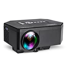 Portable UC30 LED Projector 1080P Home Theater HD HDMI 3D VGA USB Multimedia Player Black(black)