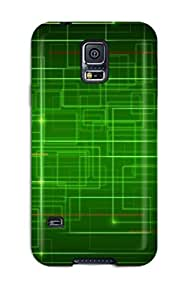 Defender Case For Galaxy S5, Cyber Path Pattern