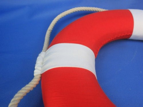 Hampton Nautical Decorative Vibrant Red Lifering with White Bands, 15 inches by Hampton Nautical (Image #5)
