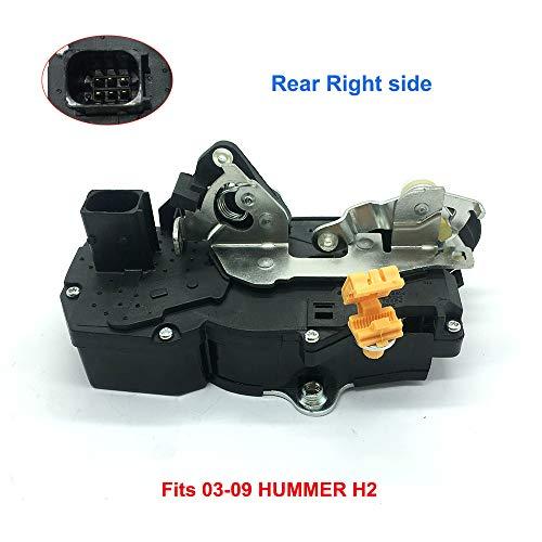 15816391 Rear Door Lock Actuator Right Passanger Side 15182171 for HUMMER Door Lock Actuator Motor H2 2003-2009 Power Door Lock Actuator passenger Side Motor 15134816 RR Door Lock Actuator 15254039