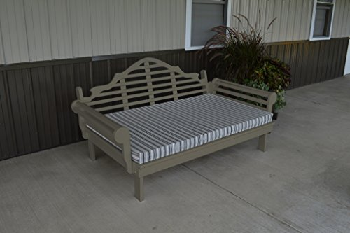 75 Inch Pine Indoor or Outdoor Marlboro Daybed Amish Made- Olive Gray Paint ()