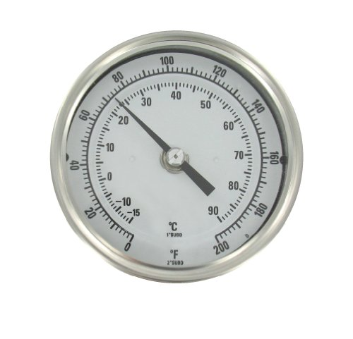(Bimetal Thermom, 3 In Dial, 0 to 200F)