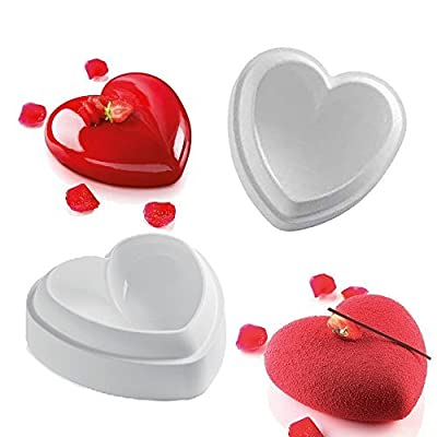 Valentine Heart Design Silicone Mold For Mousse Cake Pudding Brownie Breads Brownie Custard
