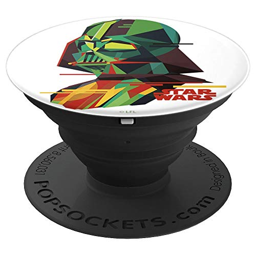 Star Wars Geometric Darth Vader Portrait - PopSockets Grip and Stand for Phones and Tablets]()