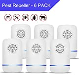 JALL Ultrasonic Pest Repeller Plug in Pest Control, Set of 6 Electric Repellent for Cockroach, Mosquito, Mice, Rat, Roach, Spider, Flea, Ant, Fly, Bed Bugs, No Traps Poison or Sprays
