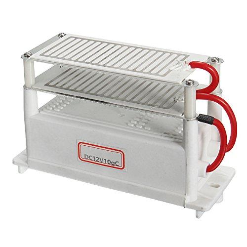 12V 10G Car Ozone Generator Ozonizer Ceramic Plate Ceramic Plate Air Sterilizer by Tarechan