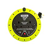 AA S2W5M10AP382C3 5m 10A 2-Socket Cable Reel with Thermal Cut Out - Light Green (Pack of 1) by Status