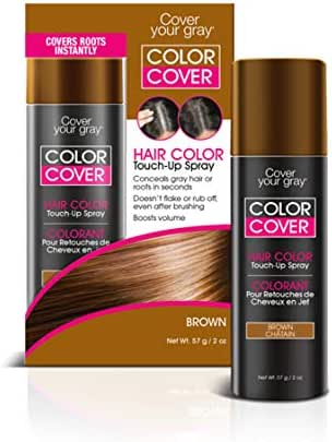 Cover Your Gray Color Cover Spray Brown - Root Concealer and Hair Color Touch Up