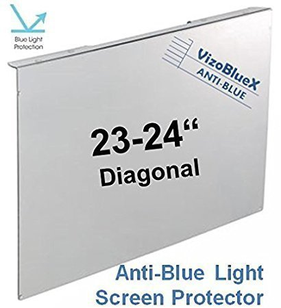 23-24 inch VizoBlueX Anti-Blue Light Filter for Computer Monitor. Blue Light Monitor Screen Protector Panel (21.5 x 13.4 inches). Blocks Blue Light 380 to 495 nm. Fits LCD, TV and PC, Mac Monitors