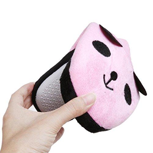 Ama (tm) Donne Morbide Corallo In Pile Bella Panda Casa Pantofole Da Camera Rosa