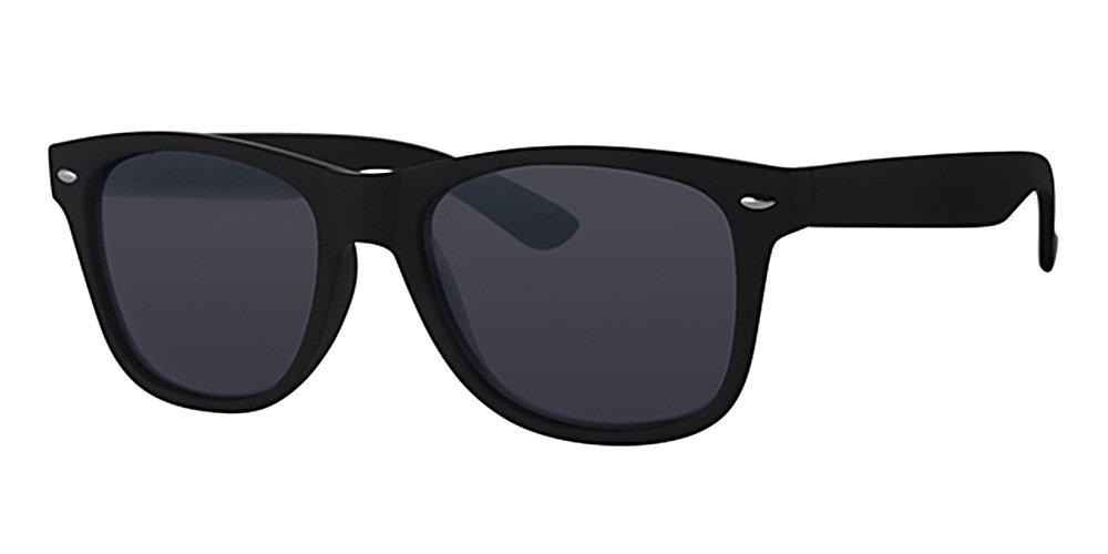 Eyewear World - Gafas de sol unisex con montura color negro, lente color negro, con cordón para el cuello de color amarillo gratis