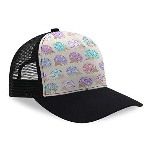 (YongColer Plain Mesh Adjustable Snapback Low Profile Baseball Cap (Hedgehog Polkadot Oven Mitts))
