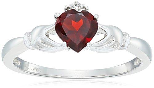 Heart Shape Garnet Ring - 5