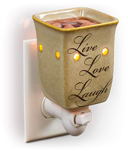 Dawhud Direct Plug-in Fragrance Wax Melt Warmers (Live Love Laugh)