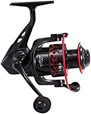 Zhl Fishing Spinning Reels, 9+1Bb Ball Bearings Fixed Aluminium Tapered Spool Reel with Worm Shaft - for Large