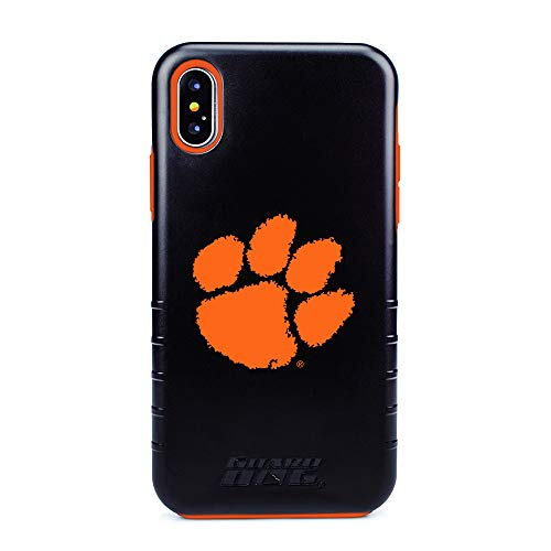 (Guard Dog Clemson Tigers Hybrid Case for iPhone X/Xs - Black)