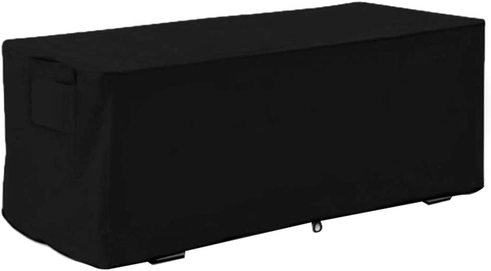 Outdoor Deck Box Cover, Garden Waterproof UV Proof Storage Box Protective Cover 123x62x55cm Storage Box Protector without Box (3#)