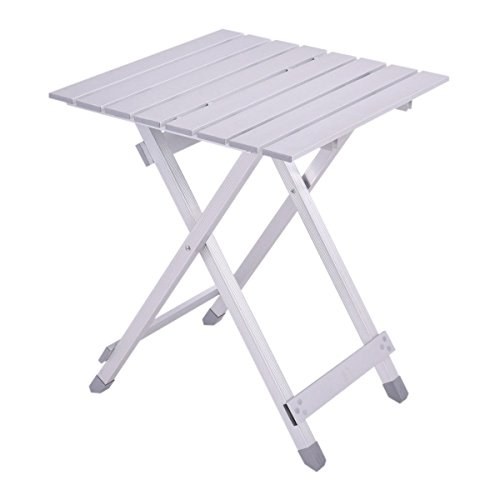 Roll up Aluminum Alloy Foldable Portable Table Picnic Outdoor Camping Ultralight by Table Folding