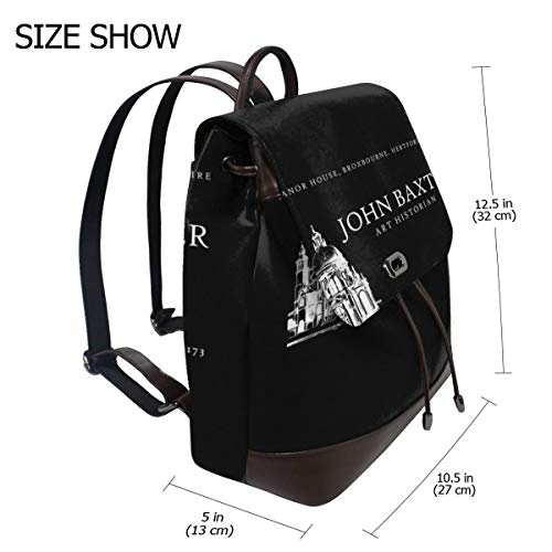 Dont Look Now John Baxter Business Card Fashion Design Leather Backpack For Women Men College School Bookbag Weekend Travel Daypack