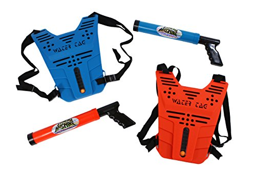 (Stream Machine Water Tag Set with Two Stream Machine Water Guns & Two Vests)