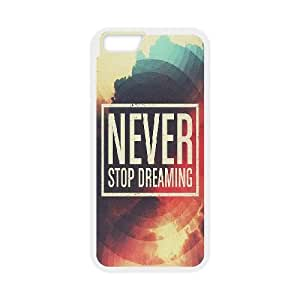 Never Stop Dreaming iPhone 6 Plus 5.5 Inch Cell Phone Case White DIY gift pp001-6390853