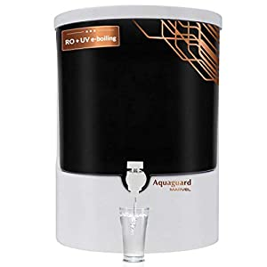 Eureka Forbes Aquaguard Marvel 8L RO+UV e-boiling+MTDS with Active Copper Water Purifier (White & Black)