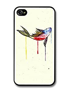 Goldfish Watercolor Original Art case for iPhone 4 4S