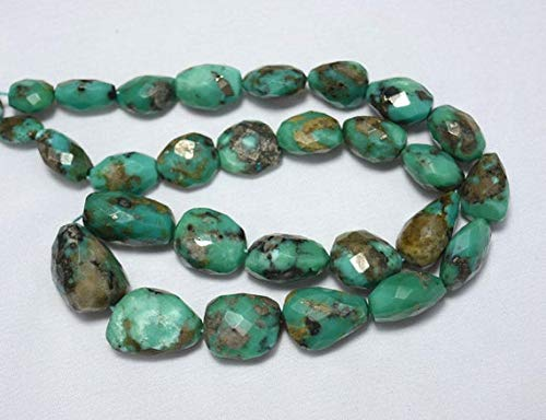 GemAbyss Beads Gemstone Natural Arizona Torquoise Gemstone Beads, Arizona Tumble Beads,Turquoise Nugget Beads 8x10mm - 15x20mm Beads, 17 Inches Strand Code-MVG-30623 (Wholesale Turquoise Nuggets)